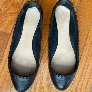 Loeffler Randall Size 7.5 Black Leather Flats